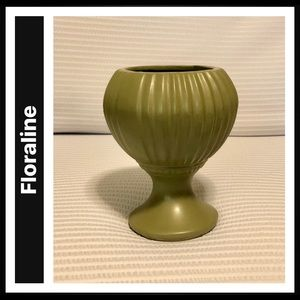 Vintage MCM McCoy Floraline USA 407 Footed Planter